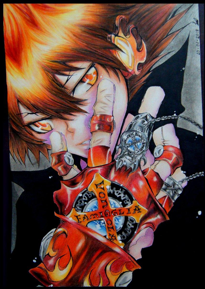 Sawada Tsunayoshi Vongola X - Katekyo Hitman Reborn  #drawing #traditionalart #tsunayoshisawada #katekyohitmanreborn #vongolaX  #traditional #colordrawing  #tsuna #katekyo #manga #mangaart #Vongola #prismacolor #pencilcolorpic.twitter.com/bjWk2r10la