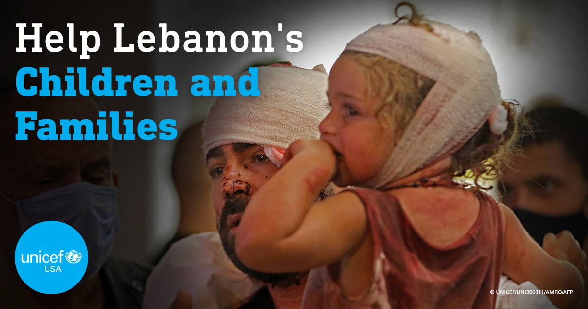 UNICEF is on the ground in #Lebanon, working with partners and authorities to support health workers and reach children affected by yesterday's horrific explosion. Here's how you can help: https://t.co/WKgjb2IM2l https://t.co/x6nJ5FUMKQ
