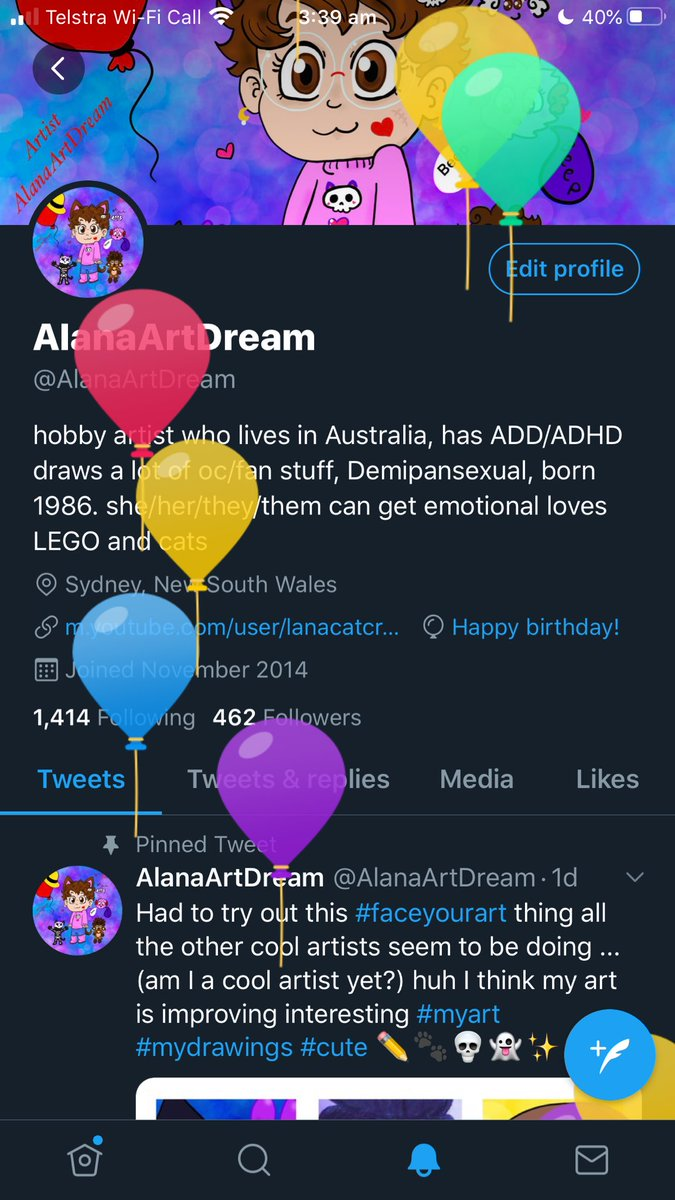 Oh Surprise it's my birthday  ((and Twitter thank you for remembering your too kind love the balloons )) #mybirthday #birthday #twitterbirthdaypic.twitter.com/XlxX2sOxXq