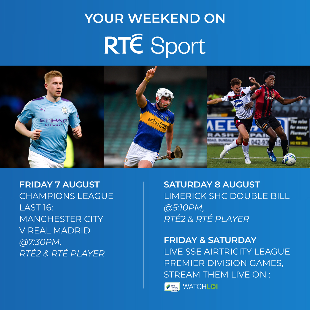 Rte Sport On Twitter We Have Champions League And Limerick Hurling Action Live On Rte2 And Rte Player This Weekend Gaa