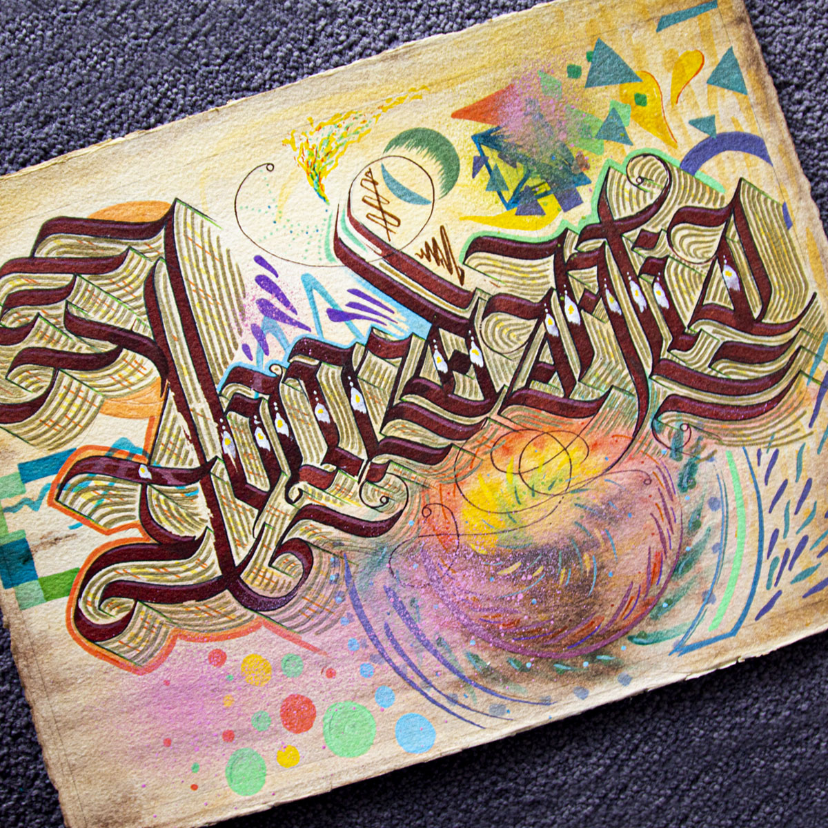 We as people always seem to forget that the universe is abundant in all its magnificence. A-B-U-N-D-A-N-T-I-A  #BlvckLama #calligraphy #graffart #calligraffiti #lettering #handlettering #urbanart #streetstyle #blackletter #calligraphy_art #artpic.twitter.com/3KvJ4suOJK