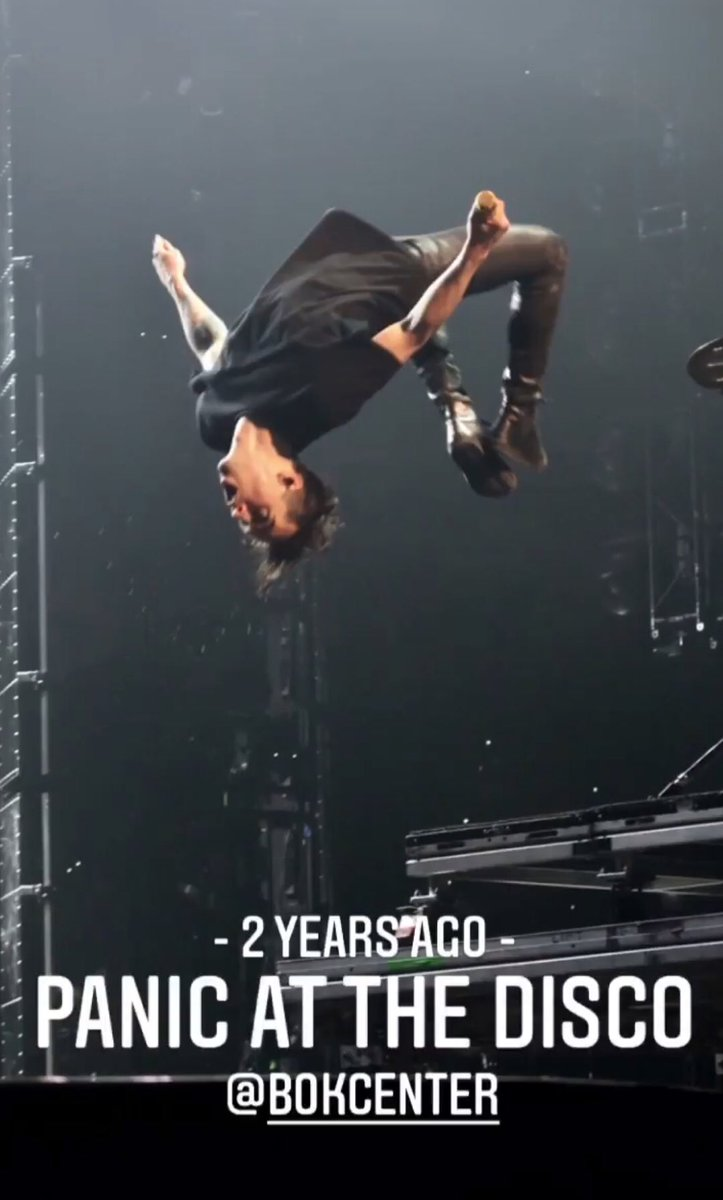 2 years ago.... Panic! at the Disco it rhymes #RockTheBOK pic.twitter.com/hR7oQXb046