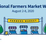 Image for the Tweet beginning: It's National #FarmersMarketWeek, but we💙supporting
