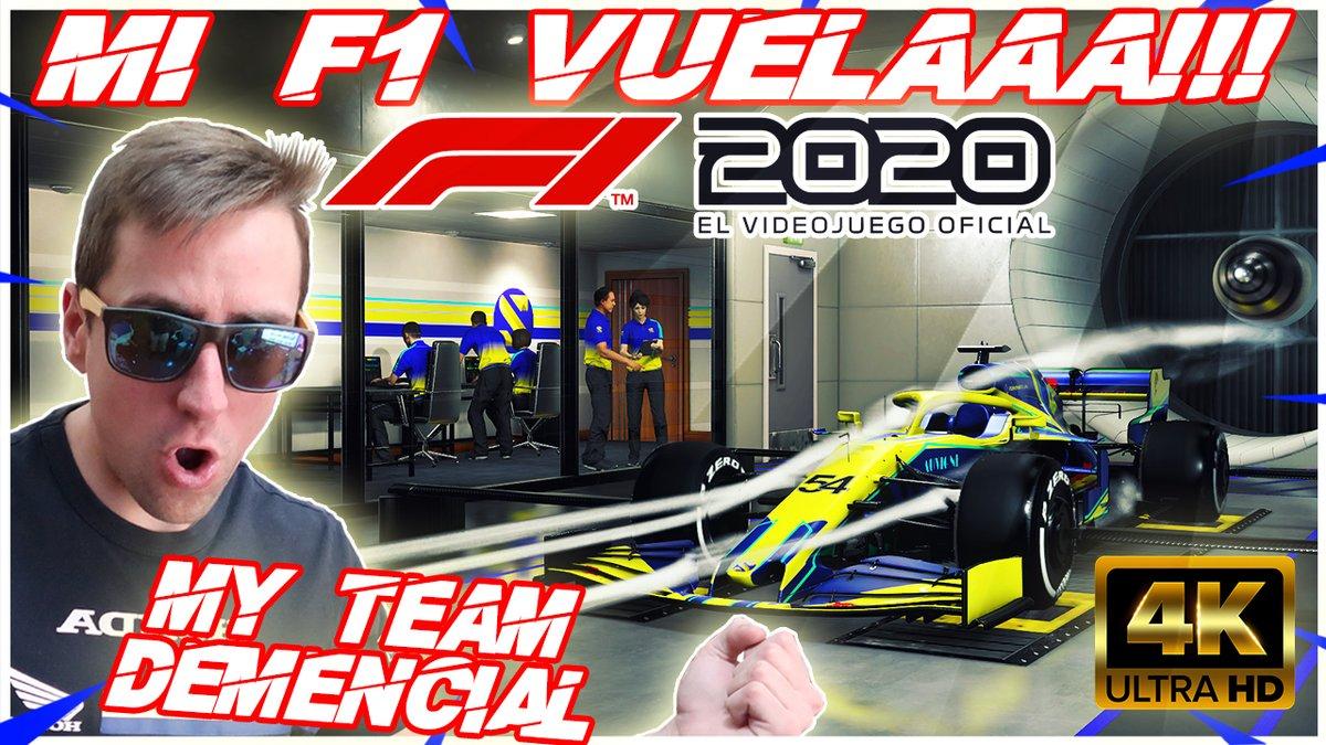 https://t.co/9utS2xKo6p #F1eSport #Formula1 #F12020 😱 Preparados para DESPEGAR F1 2020 en 4K | MY TEAM #12+1 😱 NOS ESPERA EL NUEVO ZANVOORT Y CATALUÑA! A VOLAR ! LIKEGASS A FONDO ! YA EN YOUTUBE ! https://t.co/w1p27k0ayB