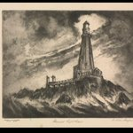 For #NationalLighthouseDay, check out the 1935 print 'Gannet Lighthouse' by William Sanger, commissioned by the Works Progress Administration and now part of the GSA Fine Arts Collection on loan to the Baltimore Museum of Art: https://t.co/RAEvTEsVVr  @artbma