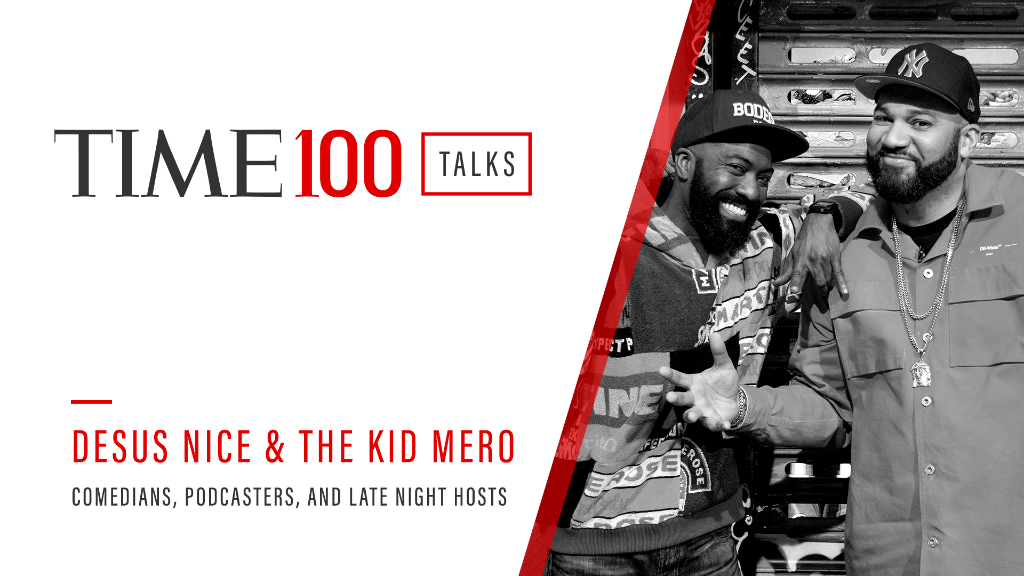 Tune in tomorrow at 1 p.m. E.T. for a live #TIME100Talks featuring conversations with @desusnice and @thekidmero   Register now: https://t.co/XGya4FVVmi https://t.co/NgrTK7mFlK