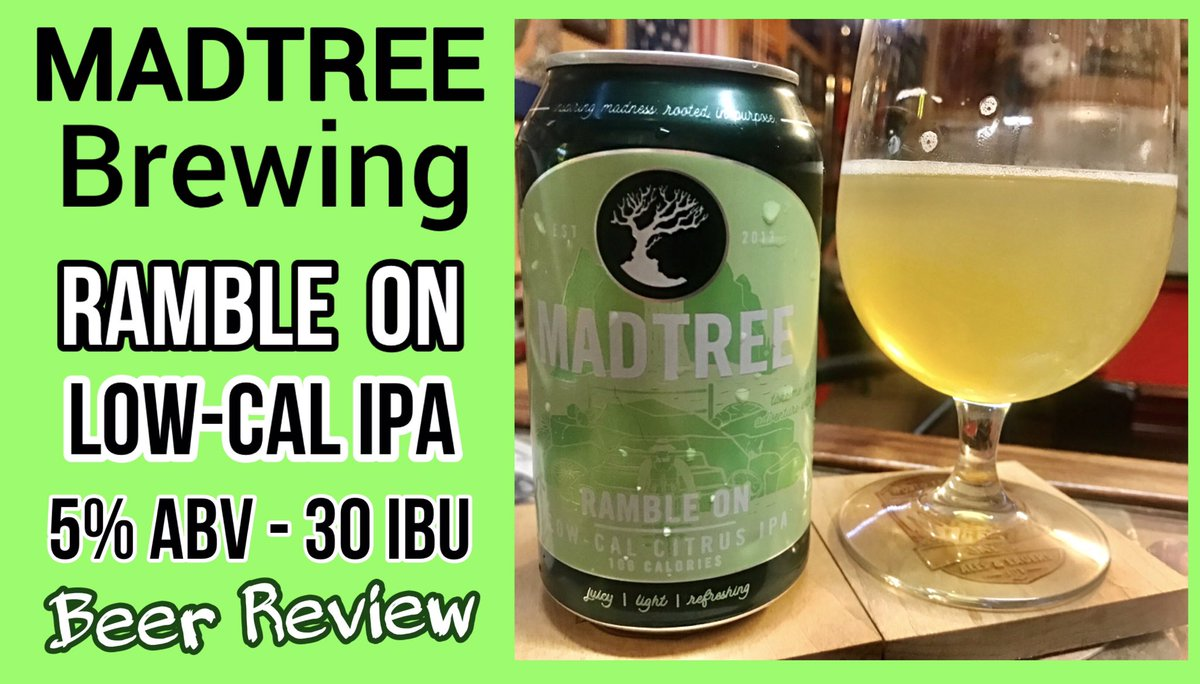 My latest beer review Ramble On - Low Calorie IPA - Madtree Brewing https://t.co/pbemUF2UGp via @YouTube #beertube #beerreview #beertime #beeroclock #Beerus #beeroftheday #BeerMenus #YouTuber #YouTubeOriginals #youtubechannel #Review #ipa #ale #beer https://t.co/lhe5WqnoNq