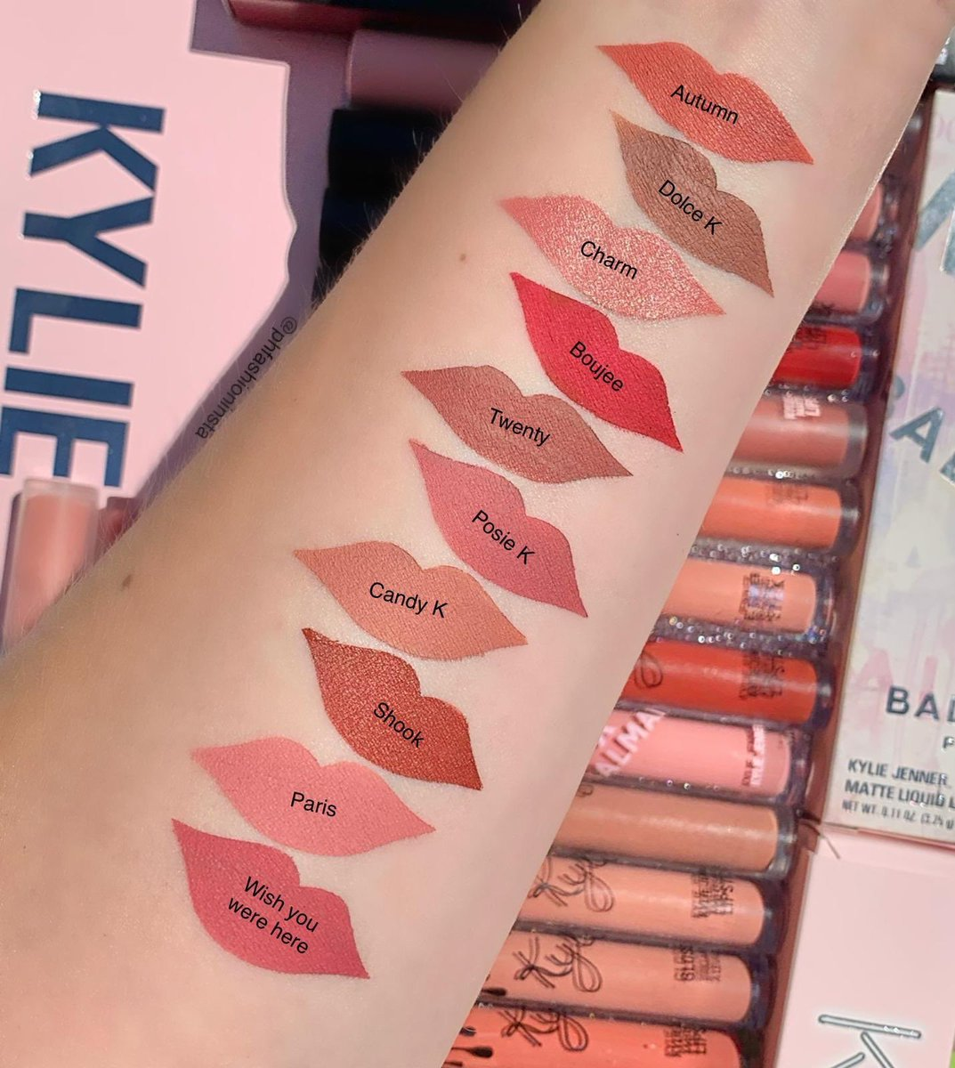 Some of my favourites #kylie #kyliecosmetics #nudelipcolor #makeuplove #nudemakeup #kyliejenner #flatlaylove #makeupphotography #slave2makeup #eyeshadowpalette #makeuppage #makeupjunkie #makeupfanatic #kyliejennerlipkit #mykyliecosmetics #kyliecosmetic #kylieskin #followmepic.twitter.com/P1dk61hsUJ