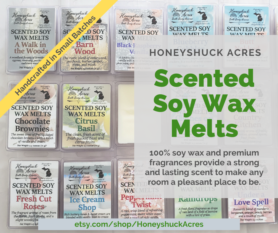 100% soy wax and premium fragrances provide a strong and lasting scent to make any room a pleasant place to be.  https://www.honeyshuckacres.com/shop/25130790/scented-wax …  #wax #waxmelts #scentedwax #soywax #waxtart #aroma #fragrance #scentspic.twitter.com/rf2qOMS4RK
