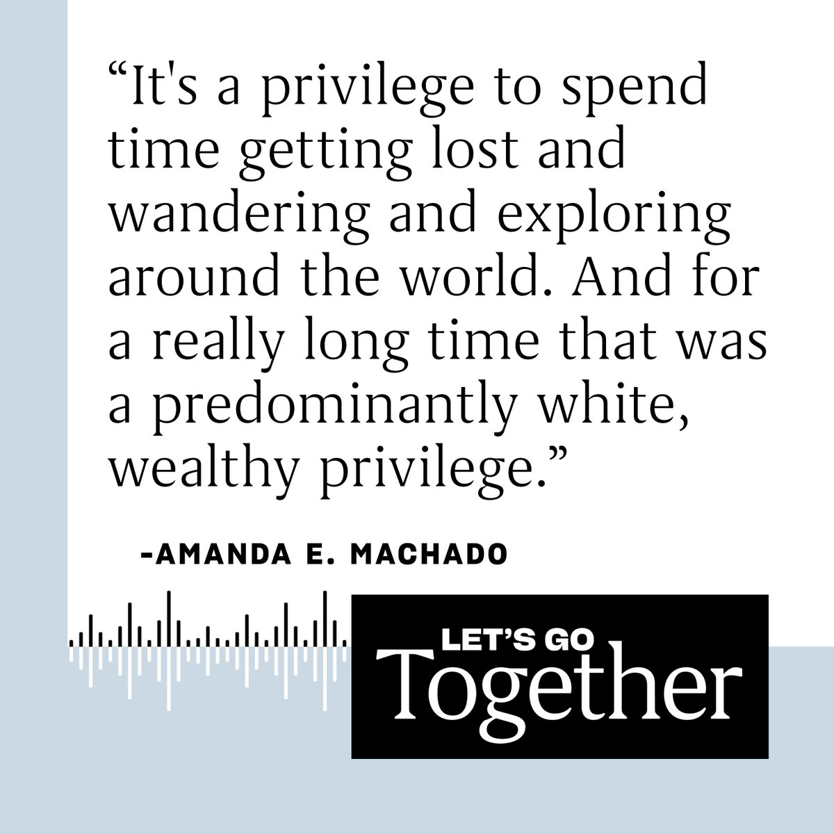 On this week's podcast episode, writer Amanda E. Machado talks to host @KelleeSetGo about traveling the world, hiking, and backpacking as a Latina and the daughter of immigrants — and why we all belong in nature. Click to download and listen: https://bit.ly/3a0wAeP pic.twitter.com/QyEDmwBsfn