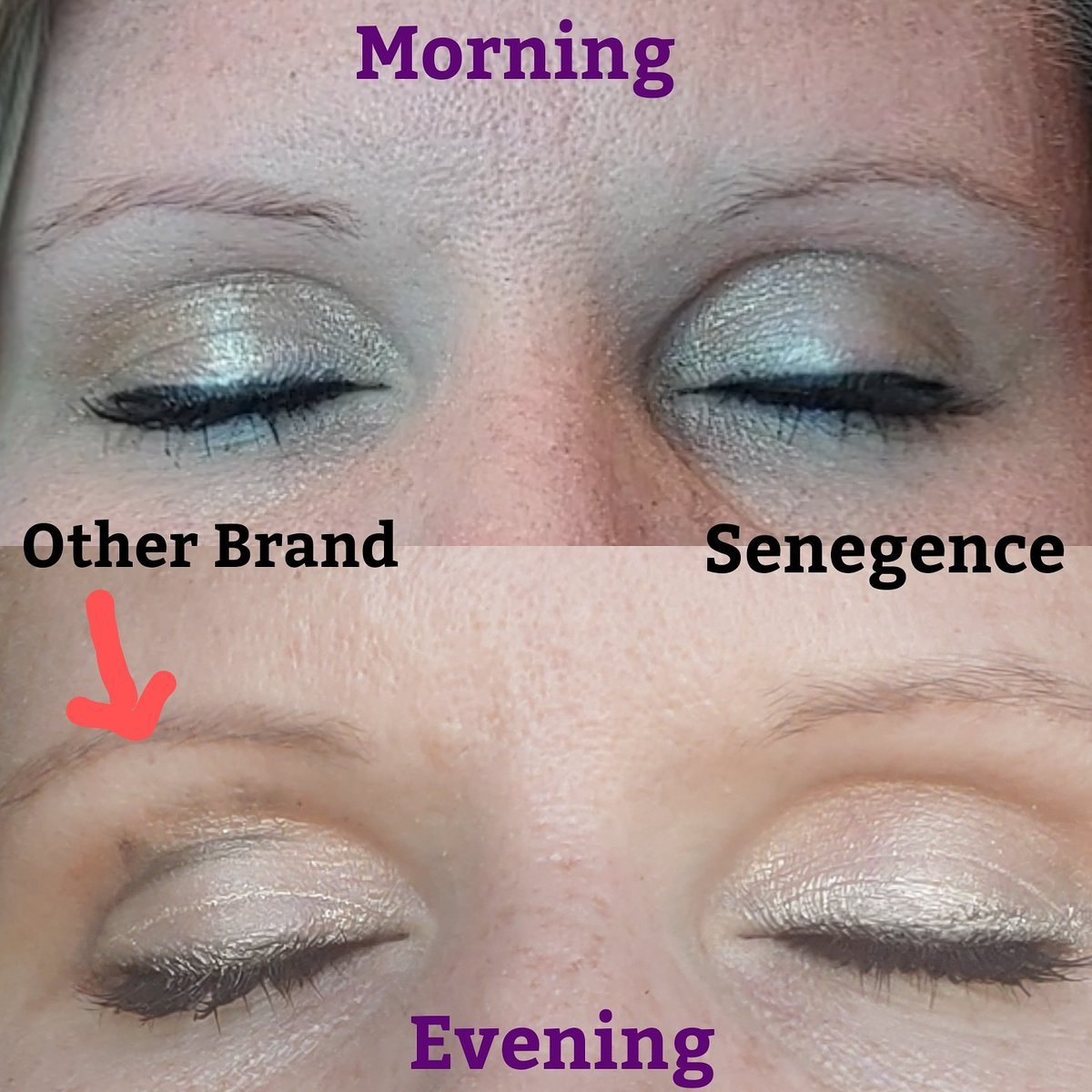 Wow  I thought I would compare the difference in my old mascara and Lashsense mascara. My old mascara by the end of the day was all over my eyelid.  I'm so glad I made the switch and don't have to worry about wiping my eyelid off all throughout the day.#beautytips #makeuppic.twitter.com/dAZNBsWQBA