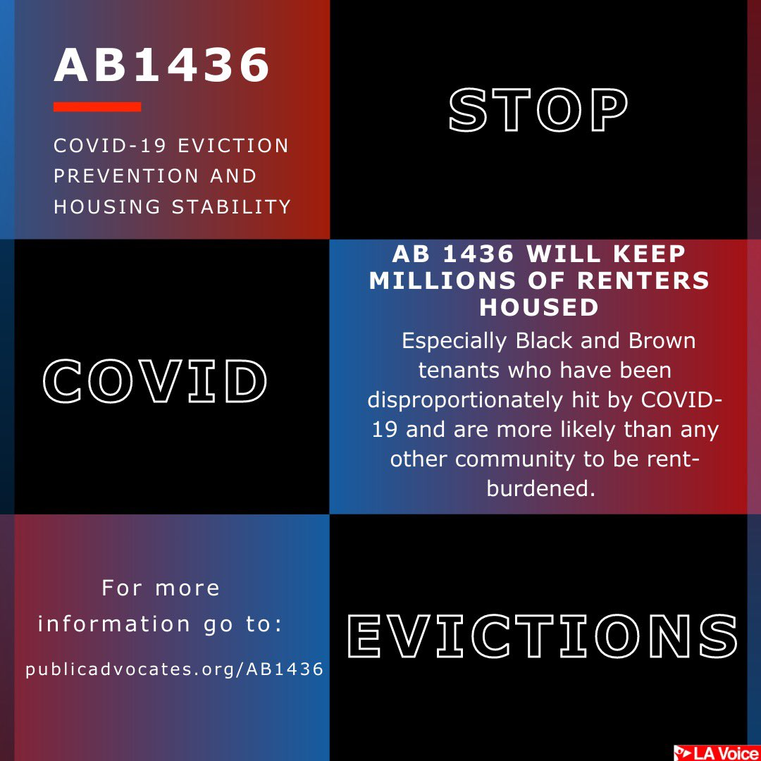 Today City Council unanimously endorsed #AB1436, which will help #StopCOVIDEvictions in California. With a tsunami of evictions looming, @DavidChius bill is urgent and necessary. #HomesNotTents
