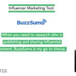 Image for the Tweet beginning: Influencer Marketing Tool: @BuzzSumo .