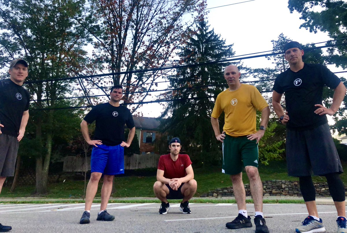 Team of 5 enjoyed the gloom @F3Villanova exercises completed with partner, one performing the exercise and the other bear crawling with feet on furniture dolly to baseline and back to half court.  150 Burpees 300 Squats 150 BBSU 300 Sun gods 150 Merkins 300 Imperial Walkers pic.twitter.com/dkky2bH42s
