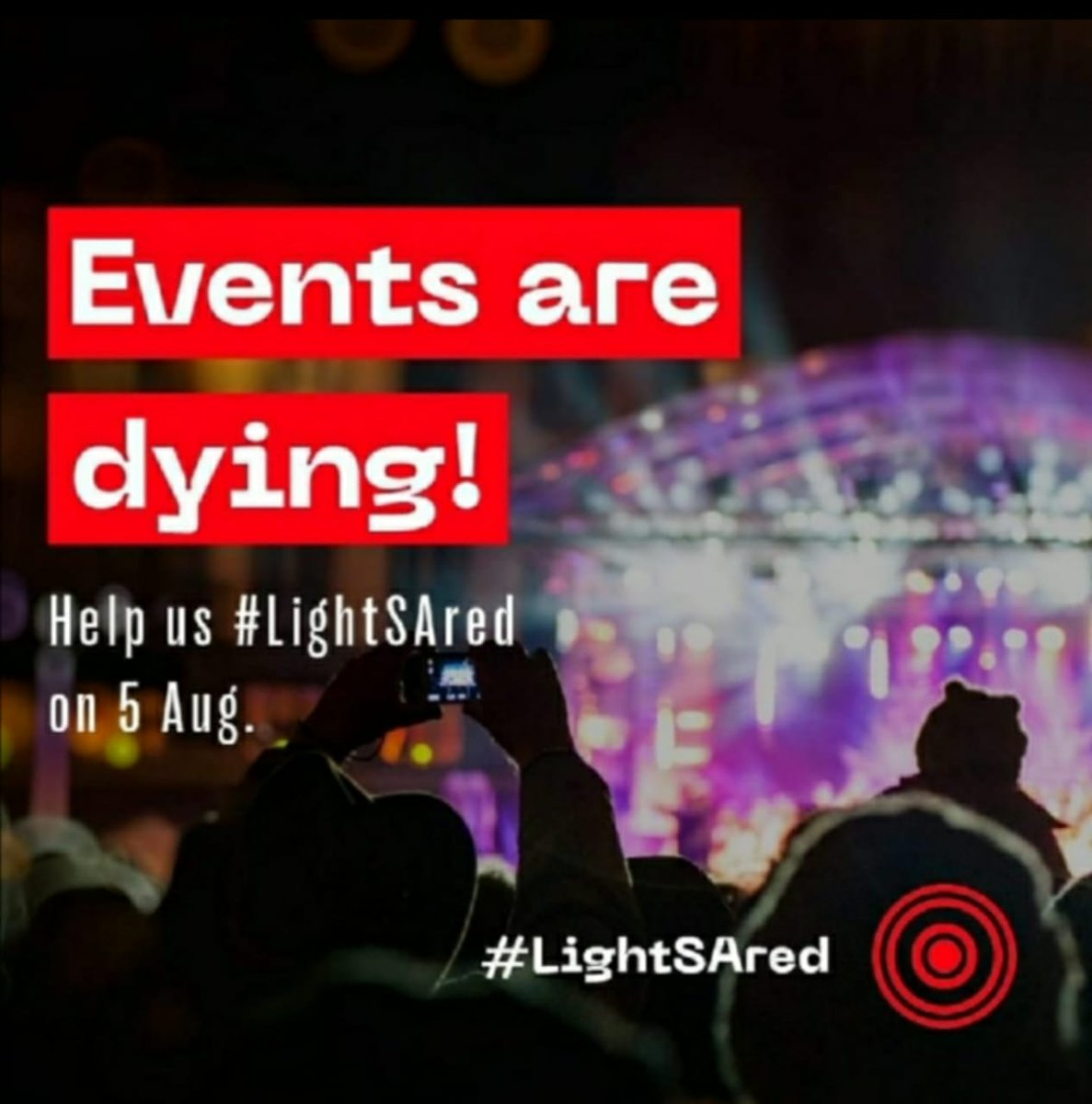We join our peers in our mission to reopen the sector.  #LightSAred #events  #southafrica https://t.co/QMulsSIAs9