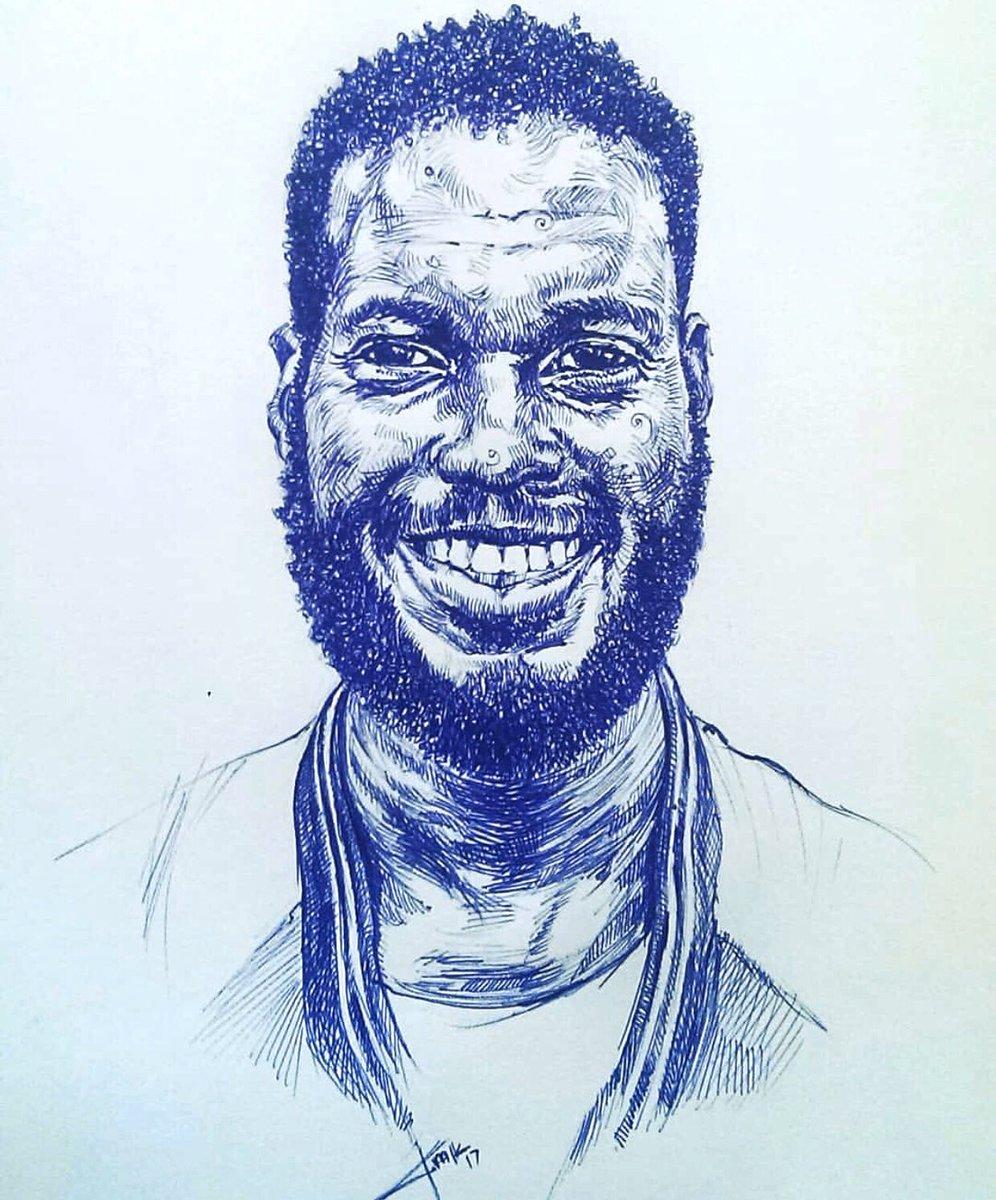 MEN .#drawingwhileblack #BLACKCREATORSFUND #ballpointpen