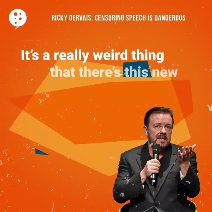 Image for the Tweet beginning: .@RickyGervais is standing up for