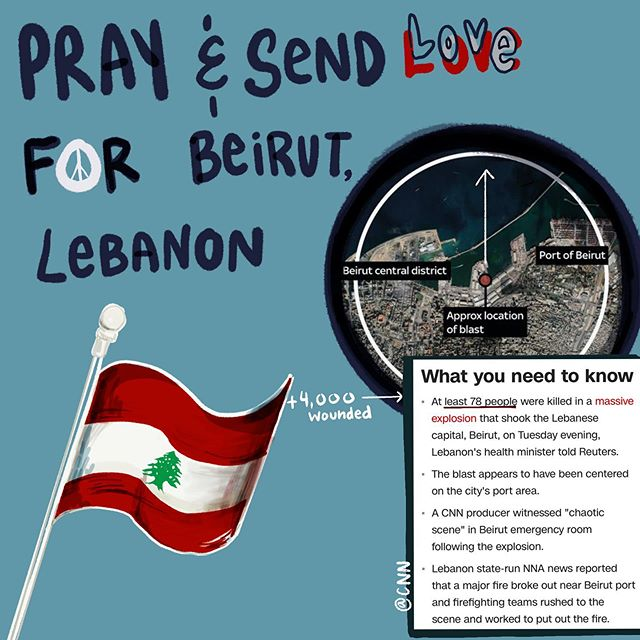 this morning, a tragic explosion caused hundreds of houses to fall to shreds, at least 78 presumed dead and thousands left injured. the videos online show the horrific fire turn into an explosive seen to take down anything in its way.  #PrayForLebanonBeirut #Beirut pic.twitter.com/XFDlp6whR6