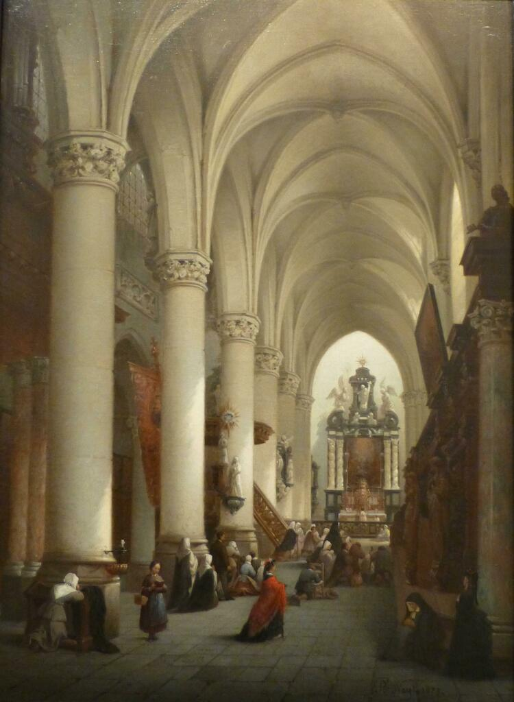 THE SAINT PETER AND PAUL'S CHURCH IN ANTWERP Oil on panel: 72 x 53 cm / 28.3 x 20.9 ins Signed and dated '1873' lower right Painter of church interiors. Neyt exhibited at several Belgian Salons from 1844 till 1875. He visited Holland, Spain and Germany. … https://ift.tt/2Dm5y5ypic.twitter.com/CX1oL9BUHR