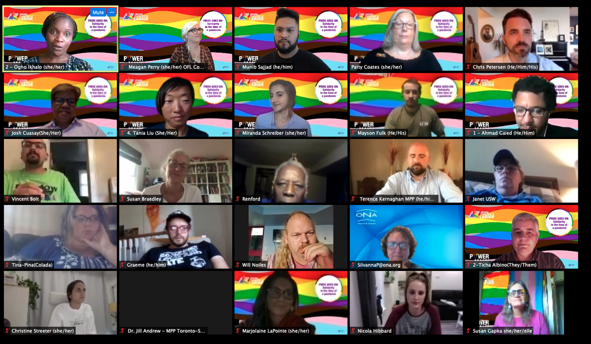 An inspiring discussion tonight at the #PrideGoesOn: Solidarity in the time of a #pandemic. Thanks to everyone who attended and participated! Happy #Pride everyone! #OnLab #PowerOfMany #COVID https://t.co/ws2tcatkEh