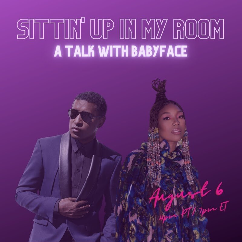 SURPRISE ✨ I'm sitting down with #Babyface Aug 6th @ 4pm PT / 7pm ET to discuss music from my first album Brandy to my newest #B7. Watch it live on youtube.com/brandy & facebook.com/foreverbrandy 🎶 What songs do you want to hear?