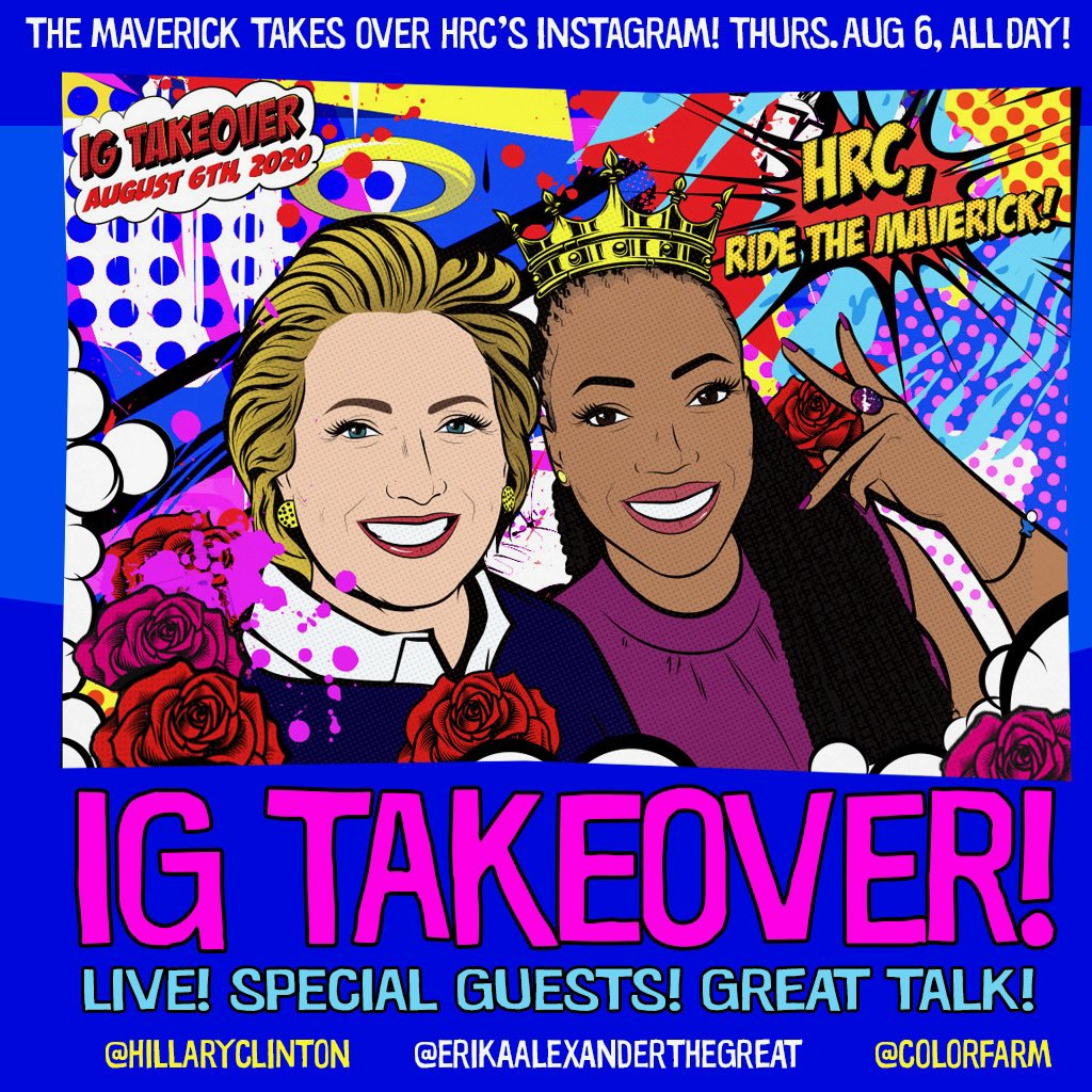 Hillary, from the bottom of my heart thank you for amplifying my voice and giving me your platform to share #GoodTrouble Tomorrow please join me on Hillary's IG for an incredible day of special guests, great talk, and lots of laughs! xo @EAlexTheGreat @colorfarmmedia https://t.co/nmYsrpmt5a