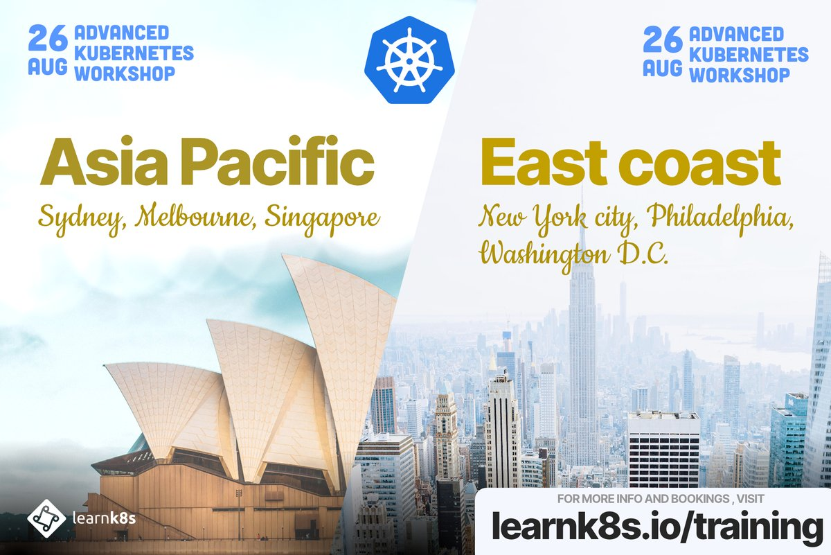 Dont miss the next Learnk8s Online Advanced Kubernetes courses! Were running 2 events at the end of August (just after KubeCon EU). More info here: learnk8s.io/training