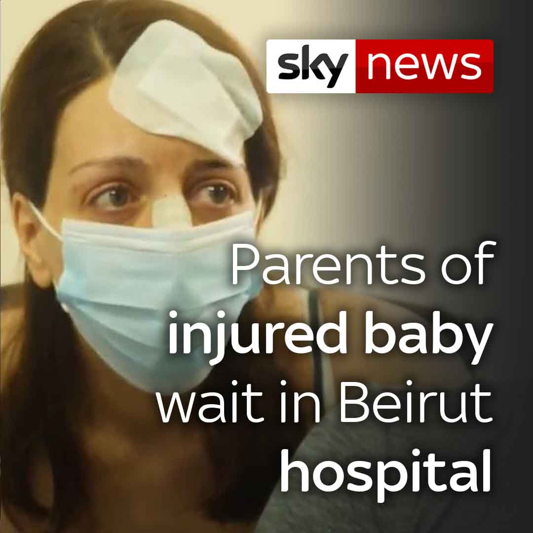I tried to protect her, but I couldnt do more than this. @AlexCrawfordSky speaks to the parents of a four-day-old baby who was hurt in the huge explosion in Beirut. More on their story here: trib.al/uVMjvqG