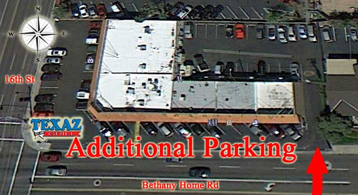 We understand that parking can sometimes be challenging at TEXAZ... But, we've got some extra parking you may not know about…  http://bit.ly/TEXAZGrillHiddenParking…pic.twitter.com/vs3ShJ6QZe