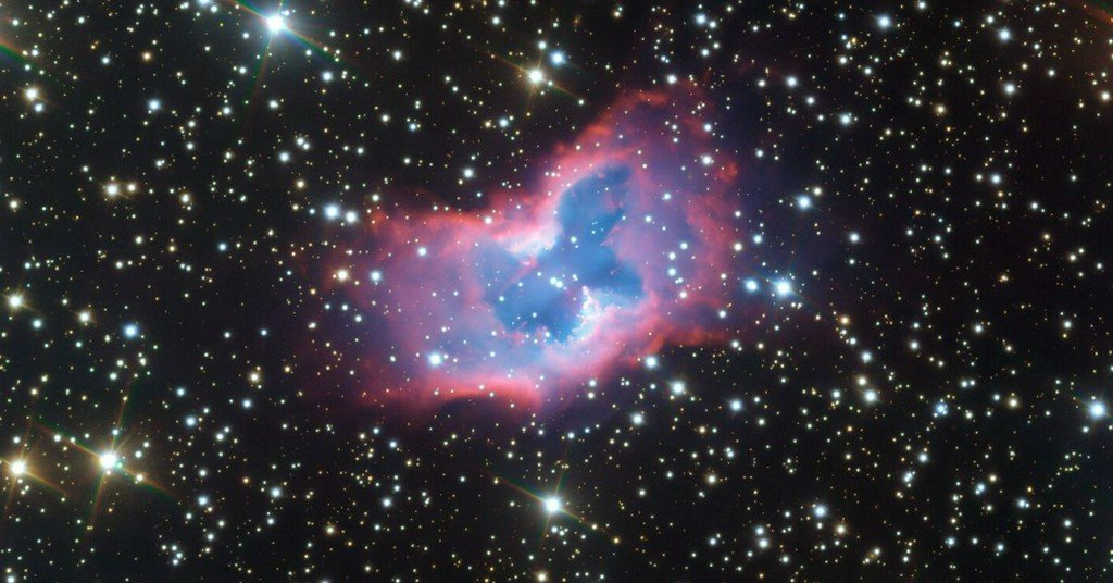 A rare 'cosmic butterfly' unfurls its wings in this telescoped image https://t.co/f7h8D5gdGf