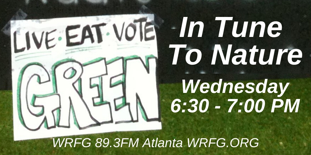 Radio that's good for Mother Earth every Wednesday at 6:30p. In #Atlanta, we're on 89.3FM. Listen worldwide over our free mobile app & http://WRFG.ORG . Follow us on Facebook at @InTuneToNature. #CommunityRadio #IndependentMedia #Environment #ClimateChangepic.twitter.com/1uCce9LEXk