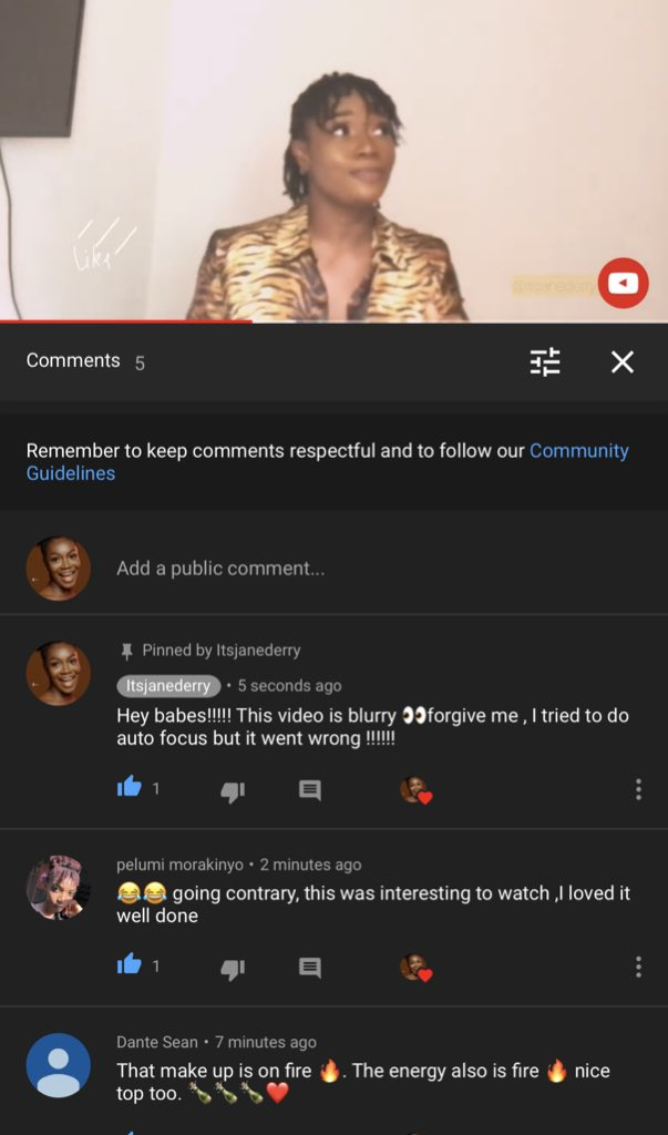 Hey babe !!!! 😂why am I shouting. Please I just uploaded on YouTube. It's like an achievement. youtu.be/St1tutGbNwI Please subscribe if you haven't 💛