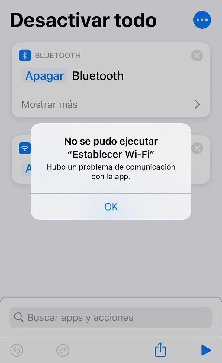 Si y desde la beta anterior tampoco, por ejemplo un ajuste que tengo para desactivar Bluetooth y wifi no me funciona. pic.twitter.com/EqaowfAv9Y