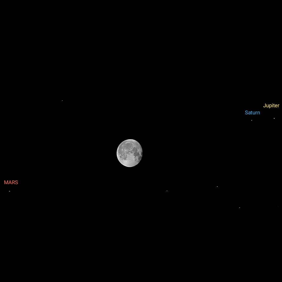 @NASA Now #Jupiter and #Saturn align with the #moon and #mars from saudi Arabia https://t.co/lFr7TfR6XZ