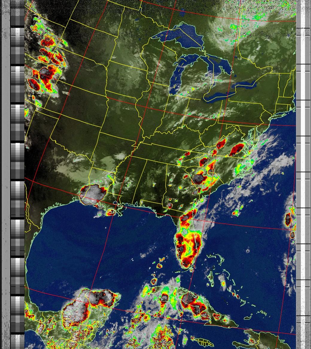 Satellite Image: NOAA 19 05-08-2020 18:15. Max Elevation: 29 Degrees. #NOAA #weather #TXlisteningpostimages #noaasatellite #RTLSDR #raspberrypipic.twitter.com/60g4h2eI4h