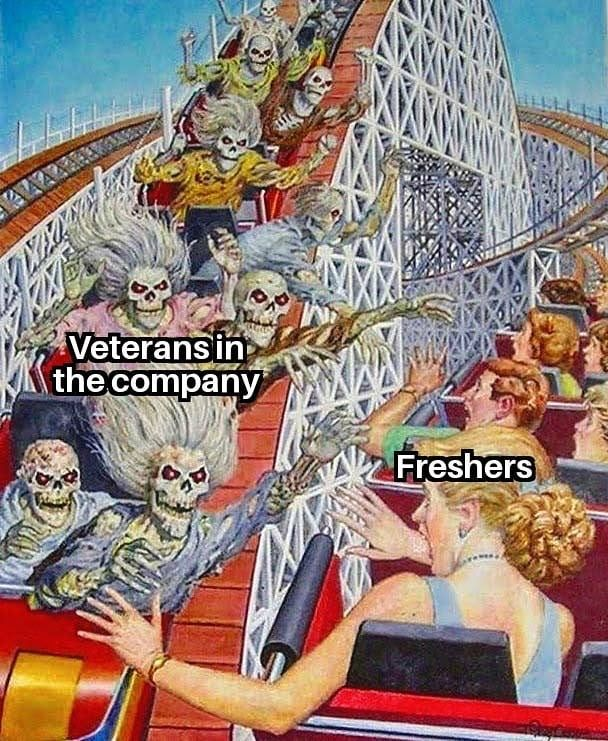 Don't be zombies, help the new ones out. Remember you were also a newbie once. #programmermemes #programmingjokes #codingmemes #programmerhumor #programmingisfun #learntocode #webdev #coders #softwaredeveloper #softwareengineering #softwaretesting #webdeveloper #javascriptpic.twitter.com/Uq5rdC5Mim