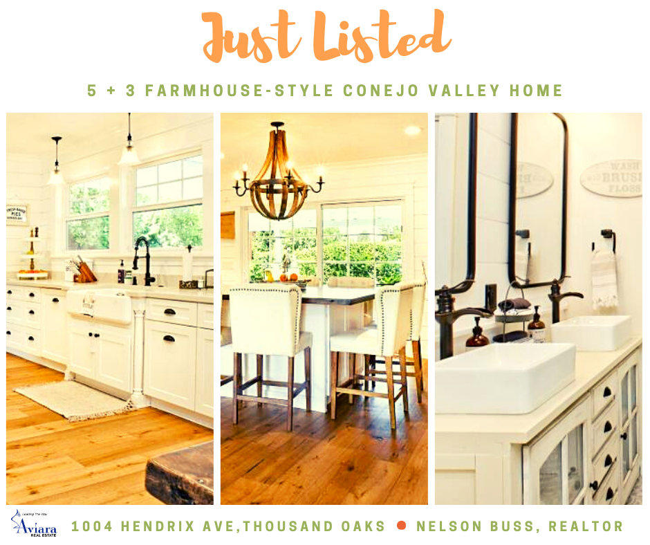 New listing - Completely remodeled, 5+ 3 farmhouse-style home in Shadow Oaks.  : http://www.nelsonbuss.com/current-listings.html… #RealEstate #ThousandOaks #ConejoValleypic.twitter.com/7H2iNyNoKj