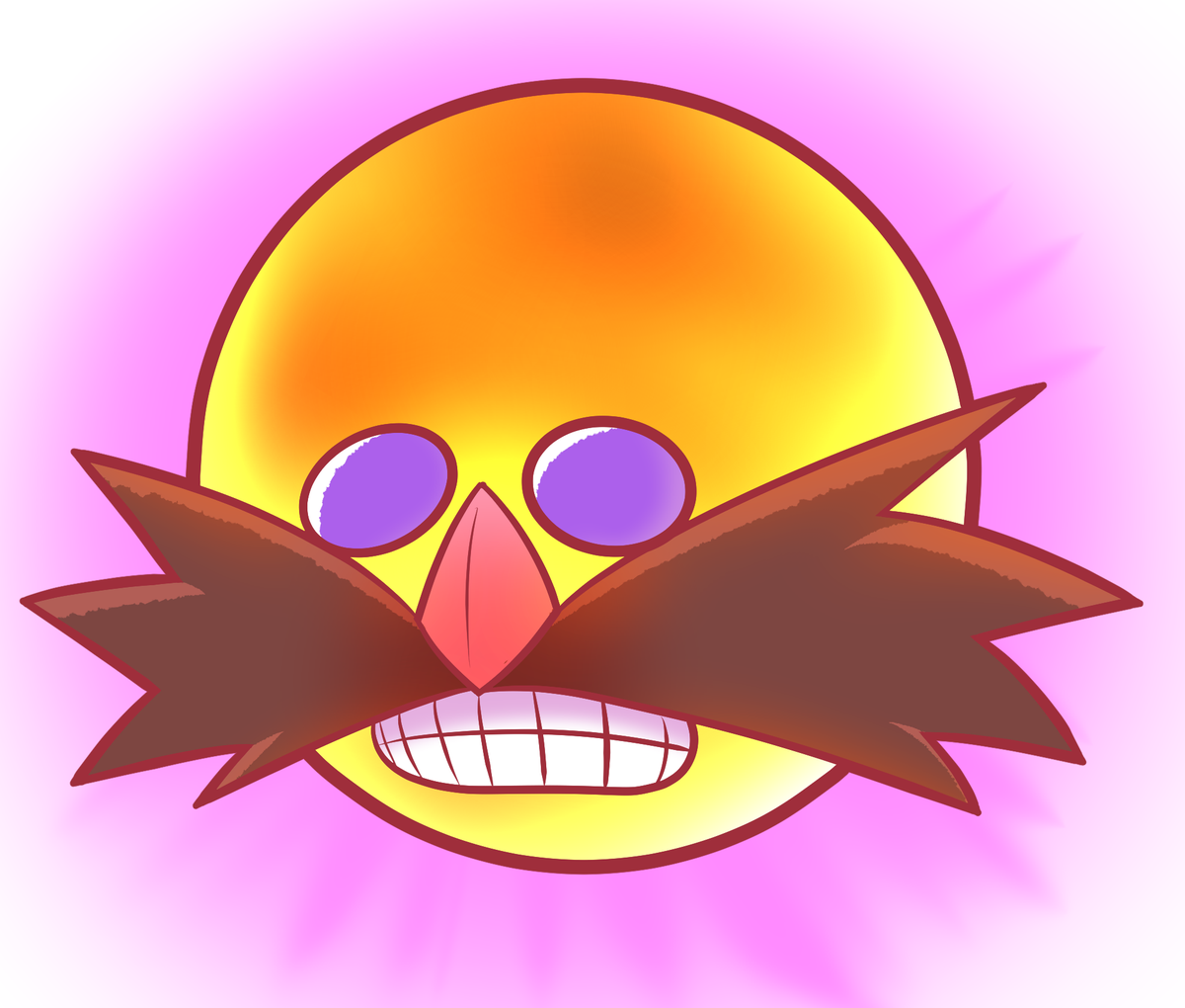 Was watching the most recent episode of @GameGrumps playing Sonic Shuffle and had to draw these.  Matching icons of that weird Eggman sun for you and your friend...? https://t.co/98kHoTdjFY