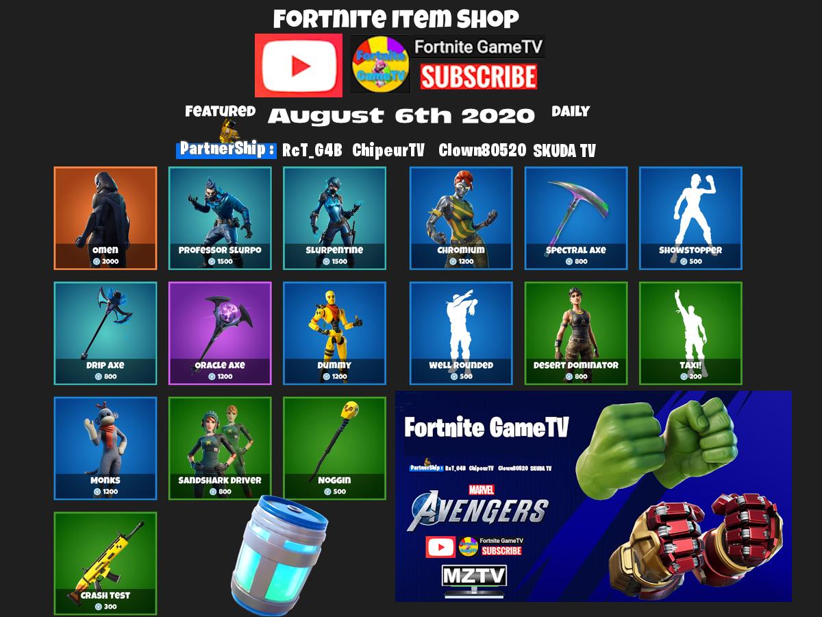 Fortnite Shop 6-08-2020   #vbucks #fortnitegamenewstv #fortnitegametv #mztv #gametv #sponsored #fortnite #fortniteleaks #giveaways #giveaway #season3 #itemshop #fortniteskins #mztv #gamenewstv @KARMAJJ_MARVIN RcT_G4B SKUDA TV Clown80520   @ChipeurTVpic.twitter.com/JVAZxUbs2J