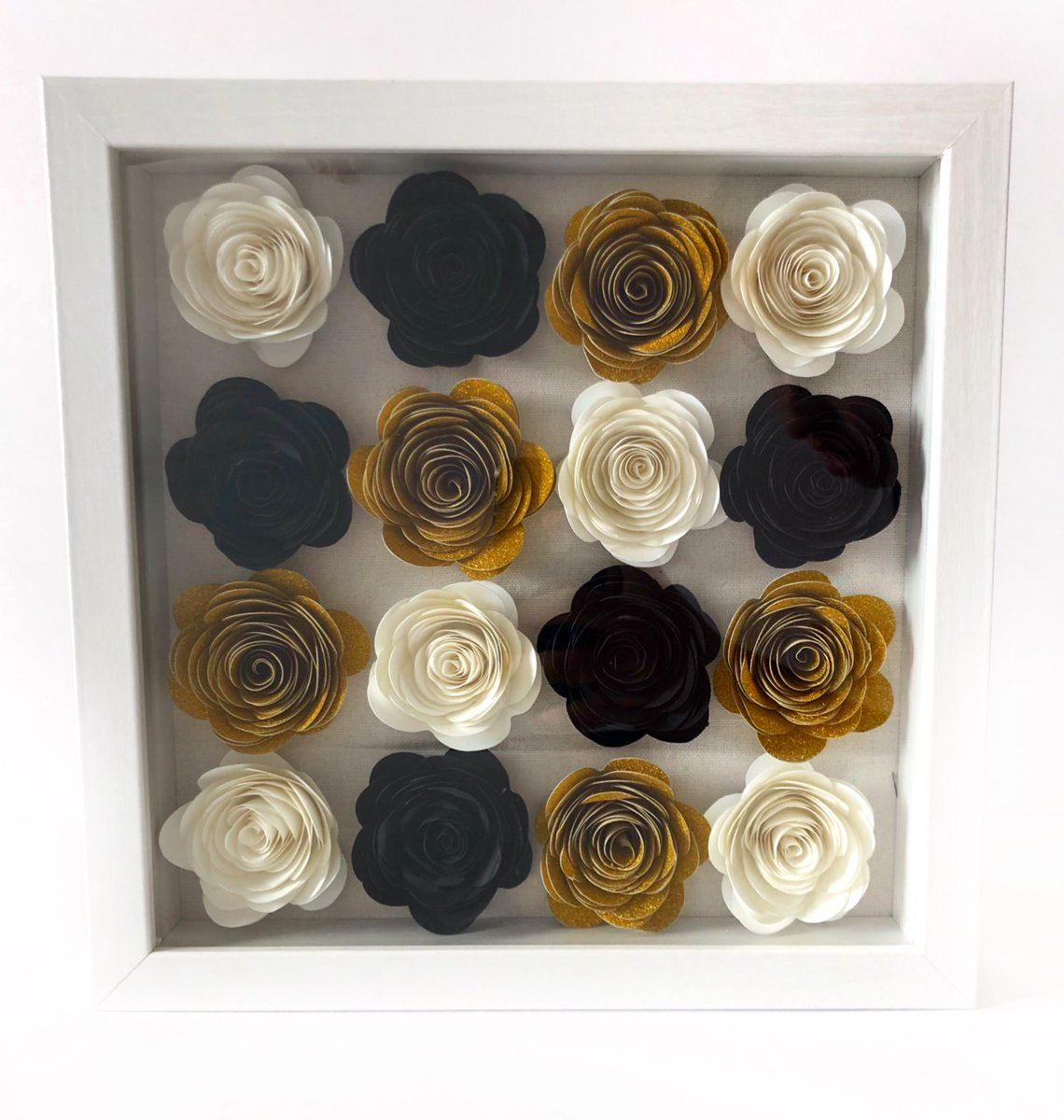 look at this flower box I made today  white, black, and gold with no lettering pic.twitter.com/yb1ETlCpA6