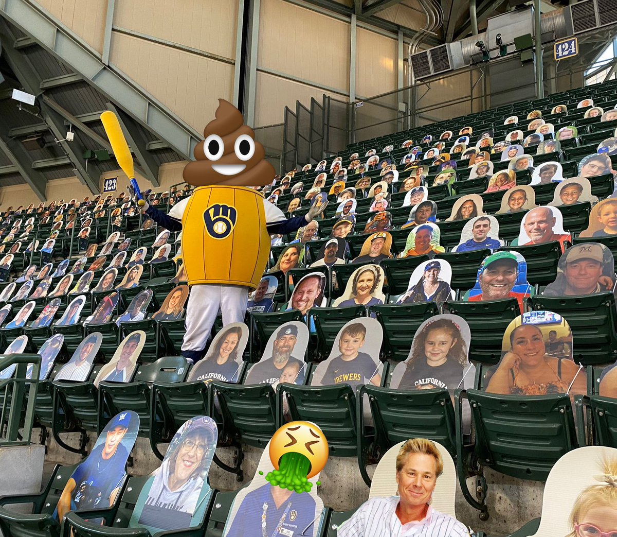 Spotted you amongst the cutouts Kato, they are already vomiting and diarrhea pic.twitter.com/13fkCTEmrP