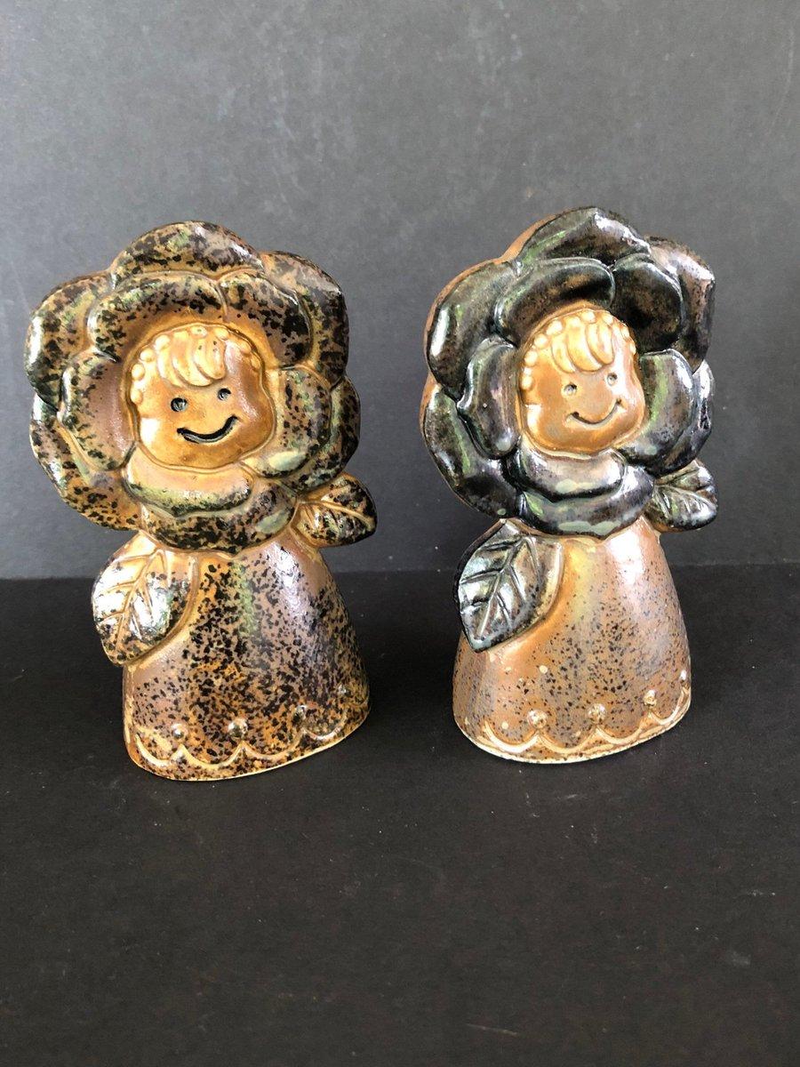 Excited to share this item from my #etsy shop: Salt and Pepper Shaker Set Made in Japan Brown Ceramic Flower Girl #madeinjapan #meganscorner #etsyseller https://etsy.me/3idzpMipic.twitter.com/AJzN2d7Rnk