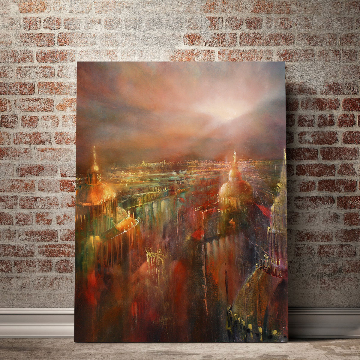 The City Wakes Up #AnnetteSchmucker #supportartists #canvasart #wallart #beautyallaround @annetteschmuckerpic.twitter.com/G8Jt6mXpaS