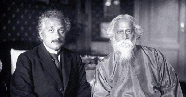 Kabiguru Rabindranath Tagore with Albert Einstein. @IndianDiplomacy #Throwback @ScienceNews #Histroy #histoire #jeudiphoto @JawedAshraf5
