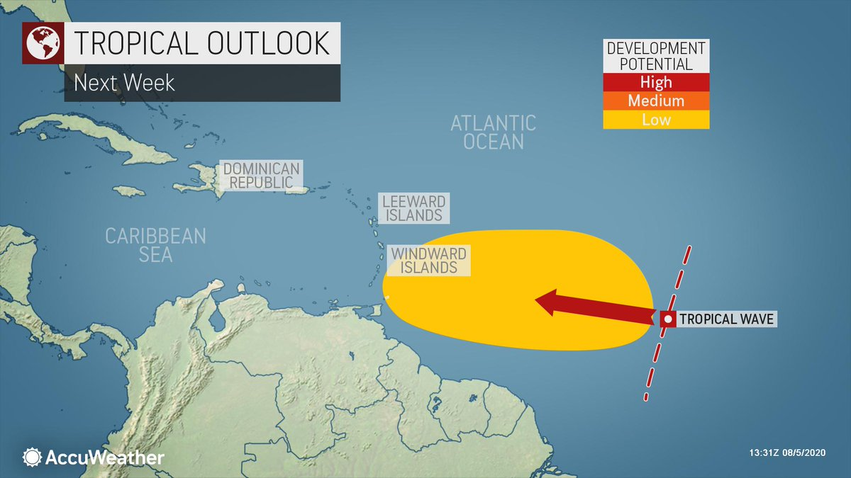 The tropical Atlantic Ocean is quiet in the wake of Isaias, but for how long? https://bit.ly/3fy0sjEpic.twitter.com/ZZ4Cjrctvr
