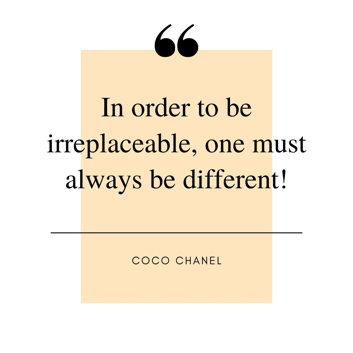 #cocochanel  She may have done some things wrong but she did the right thing by bringing #unique designs to the fashion industry. What she said about being #irreplacepale, makes sense when you discover your uniqueness, too!  #discoveryouruniqueness #selfrealization #eyeopening https://t.co/URxUpx1kHZ