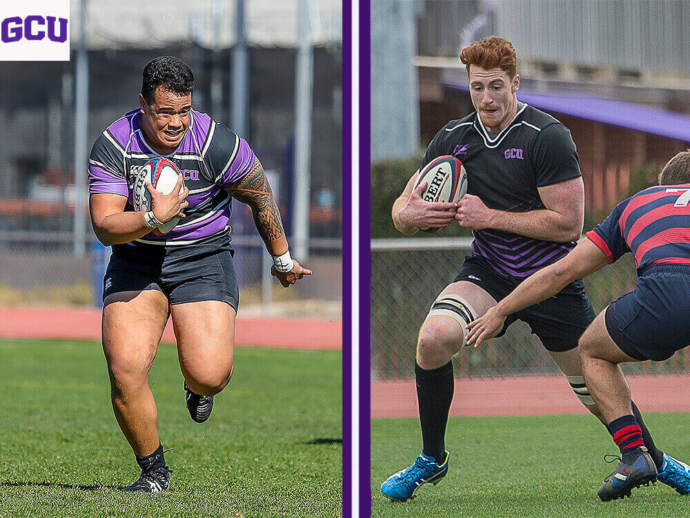 Lopes' products... and PRO CONTRACTS! @gcurugby alums Cameron Dodson and Lincoln Sii go from purple to pro as they both sign with teams in the @usmlr!  Full story:  https://t.co/mGdqYUCUGn #LivetheLopeLife #LopesRising https://t.co/etncvcJ02d