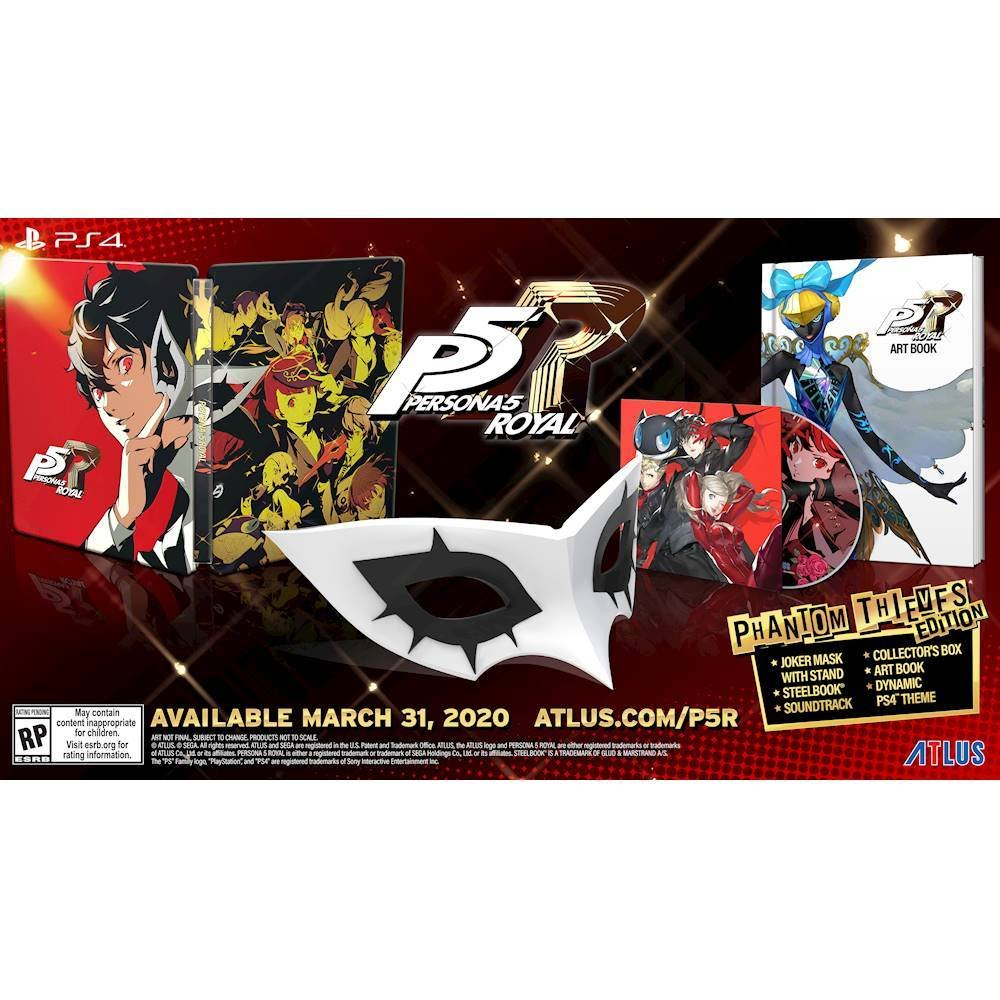 Persona 5 Royal Phantom Thieves Edition (PS4) is available at Best Buy ($89.99) 2