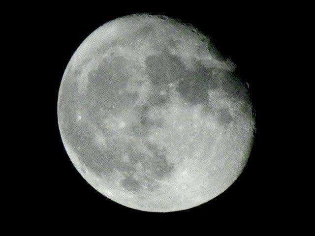 Así la luna de hoy! #Moon #astronomy pic.twitter.com/ljvhVIypbx