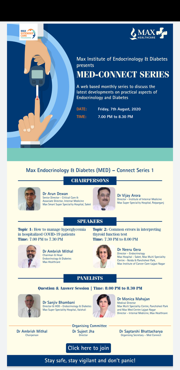 Join us tomorrow- Friday August 7, at 7 pm for the first in our Max Endocrinology and Diabetes webinar series 1. Diabetes in hospitalised patients with #COVID19  2. Errors in interpreting thyroid tests  @MaxHealthcare @abhay_soi @DrMradulkaushik   http://cdn.24fd.com/e20/08/sunpharma/07/index.html …pic.twitter.com/zdony06oMF